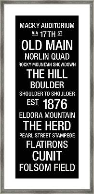 Colorado College Town Wall Art Framed Print by Replay Photos