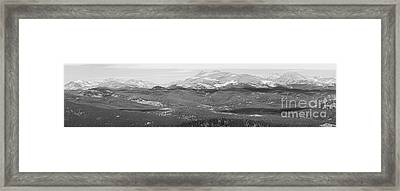 Colorado Continental Divide Panorama Hdr Bw Framed Print