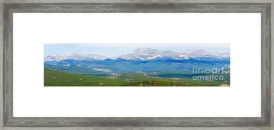 Colorado Continental Divide Panorama Hdr Crop Framed Print by James BO  Insogna