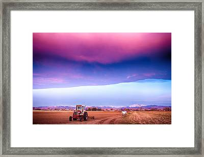 Colorado Country Intense Morning View Framed Print by James BO  Insogna