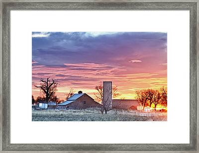 Colorado Country Morning Sunrise Framed Print