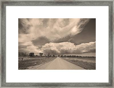 Colorado Country Road Sepia Stormin Skies Framed Print by James BO  Insogna