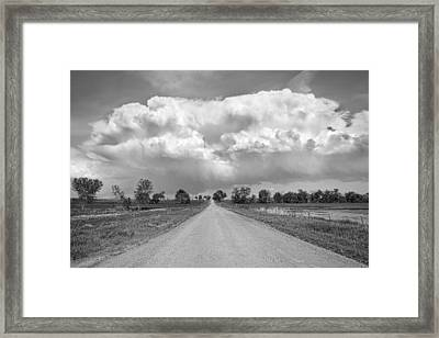Colorado Country Road Stormin Bw Skies Framed Print by James BO  Insogna