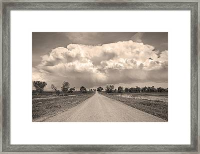 Colorado Country Road Stormin Sepia  Skies Framed Print by James BO  Insogna