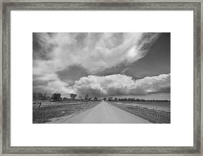 Colorado Country Road Stormin Skies Bw Framed Print by James BO  Insogna