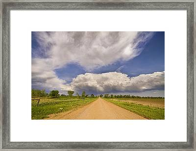 Colorado Country Road Stormin Skies Framed Print