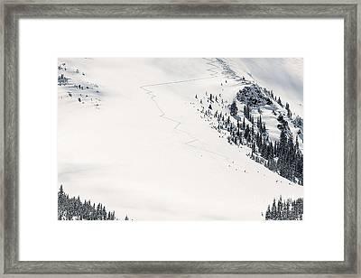 Colorado Extreme Skiing Framed Print by Janice Rae Pariza