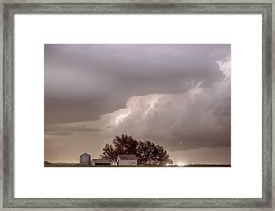 Colorado Farm Country Storm Framed Print by James BO  Insogna