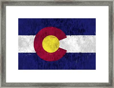 Colorado Flag Framed Print by World Art Prints And Designs