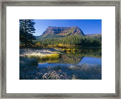 Trapper's Lake Sunrise Framed Print