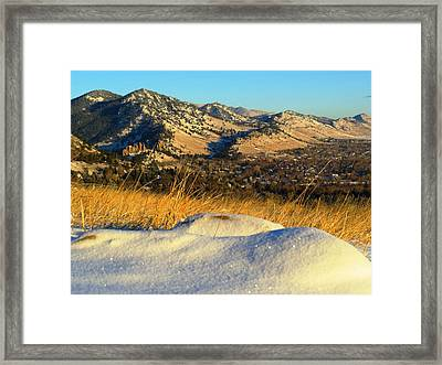 Colorado Front Range Sunrise Framed Print