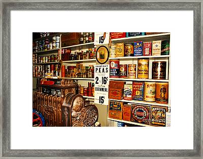 Colorado General Store Supplies Framed Print by Janice Rae Pariza