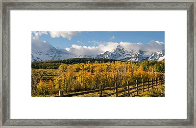 Colorado Gold - Dallas Divide Framed Print by Aaron Spong