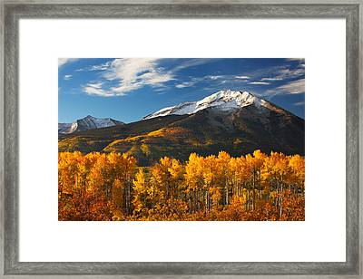 Colorado Gold Framed Print