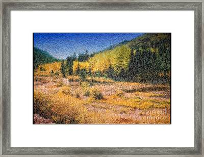 Colorado Golden Autumn Framed Print