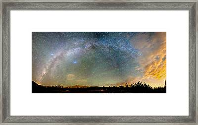 Colorado Indian Peaks Wilderness Milky Way Panorama Framed Print by James BO  Insogna