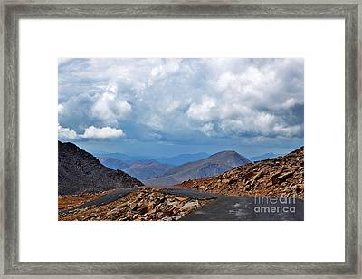 Colorado Long And Winding Road Framed Print by Janice Rae Pariza