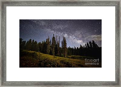 Framed Print featuring the photograph Colorado Milky Way by Brian Spencer