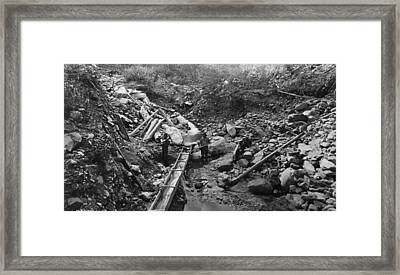 Colorado Mining, C1875 Framed Print