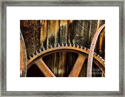 Colorado Mining Gear Framed Print