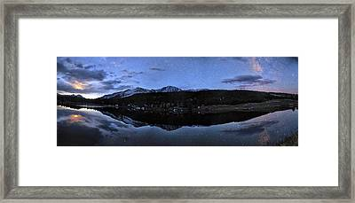 Colorado Moon To Milk Framed Print by Mike Berenson