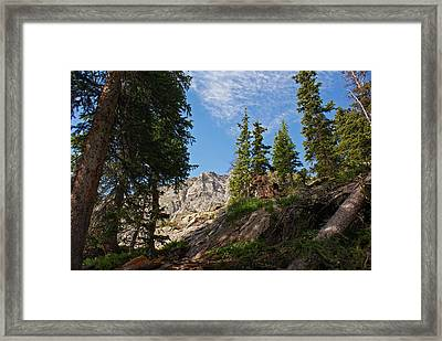 Colorado Mountain Hike Framed Print by Michael J Bauer