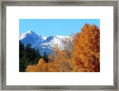 Colorado Mountains In Autumn Framed Print by Marilyn Burton