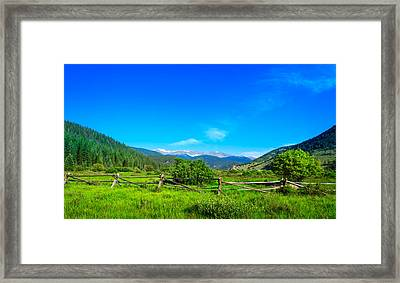 Colorado Mountains Framed Print by Mark Andrew Thomas