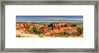 Colorado National Monument Canyon Panorama Framed Print by Christopher Arndt