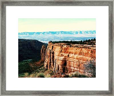 Framed Print featuring the photograph Colorado National Monument by Polly Peacock