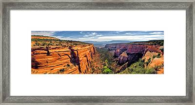 Colorado National Monument Red Canyon Panorama Framed Print by Christopher Arndt