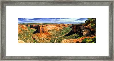 Colorado National Monument Ute Canyon Panorama Framed Print by Christopher Arndt