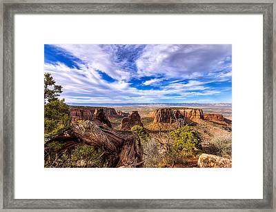 Colorado National Monument View Framed Print by John McArthur
