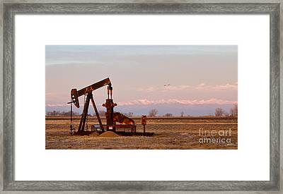 Colorado Oil Well Panorama Framed Print