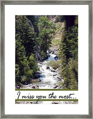 Colorado On My Mind Framed Print