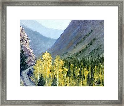 Colorado Pass Framed Print by Kenny Henson