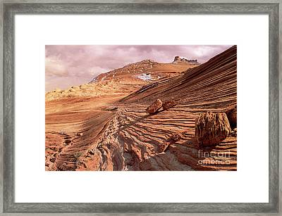 Colorado Plateau Sandstone Arizona Framed Print by Yva Momatiuk and John Eastcott