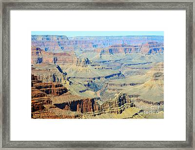 Colorado River Flowing Red Through Inner Gorge Grand Canyon National Park Framed Print by Shawn O'Brien