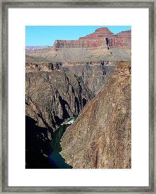 Colorado River From Plateau Point Framed Print