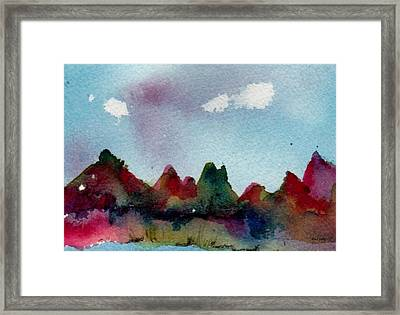 Framed Print featuring the painting Colorado River Glow by Anne Duke