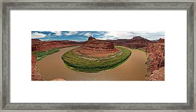 Colorado River Gooseneck Framed Print by Adam Romanowicz