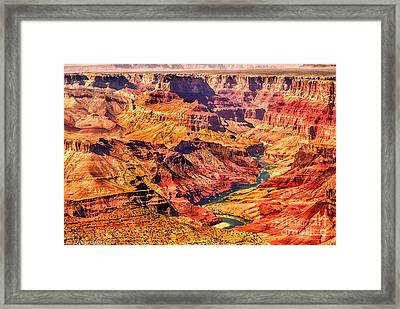 Colorado River 1 Mi Below 100 Miles To Vermillion Cliffs Utah Framed Print