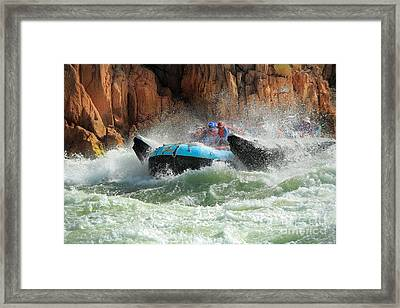 Colorado River Rafters Framed Print by Inge Johnsson