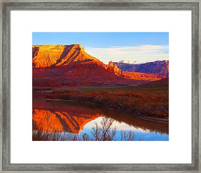 Colorado River Reflections Framed Print