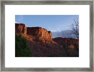 Colorado River Sunrise Framed Print by Michael J Bauer