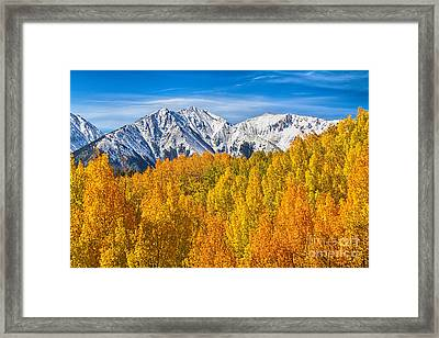Colorado Rocky Mountain Autumn Beauty Framed Print by James BO  Insogna