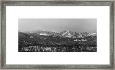 Colorado Rocky Mountain Continental Divide Panorama Bw Pt1 Framed Print