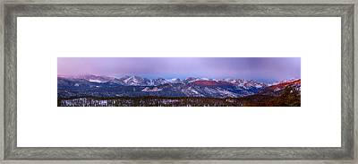 Colorado Rocky Mountain Continental Divide Sunrise Panorama Framed Print by James BO  Insogna