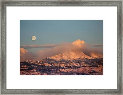 Colorado Rocky Mountain Full Moon Set Framed Print by James BO  Insogna