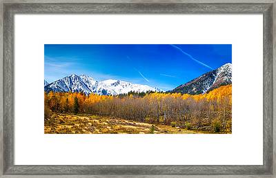 Colorado Rocky Mountain Independence Pass Autumn Pano 1 Framed Print